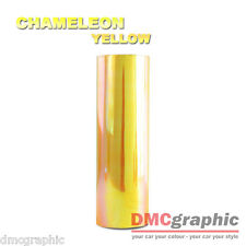 Chameleon Yellow Car Motorbike Headlight Tail Light Adhesive Vinyl Tint Wrap