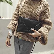Women PU Leather Handbag Clutch Envelope Shoulder Messenger Evening Bag Purse