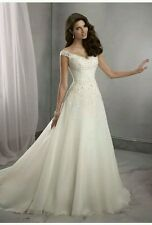 Trendy White/Ivory Wedding Dress Bridal Gown Size 6 to 16 UK