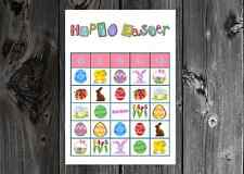 Easter Holiday Party Game Bingo Cards on Card Stock 10/20/30ct
