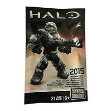 MEGA BLOKS HALO EXCLUSIVE SILVER WARRIOR FIGURE - RARE & COLLECTABLE 2015