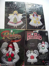 Angel Clothespin Christmas Ornament Kits  Set of 6 Designs for the Needle