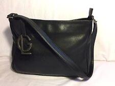 Guy Laroche Paris Black Leather Shoulder Bag Purse Hand Bag
