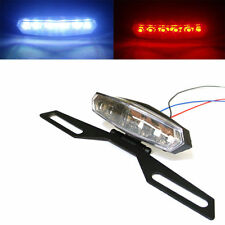Universal 6 LED Motorcycle License Plate Holder Brake Turn Signal Tail Light mp