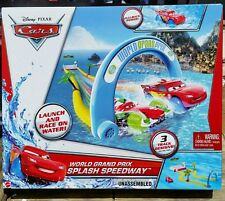 Disney Pixar Cars WORLD GRAND PRIX SPLASH SPEEDWAY - NEW!!