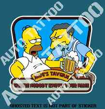 FUNNY BEER FRIDGE DECAL STICKER WITH MOE AND HOMER BAR FRIDGE COOL MANCAVE SHED