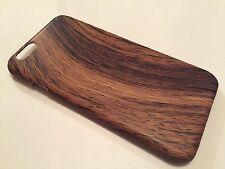 Apple Iphone 6 6S cover case protective hard back wood grain wooden oak D brown