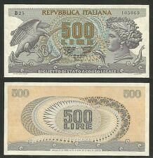"""REPUBBLICA ITALIANA - 500 Lire """"Testa di Aretusa"""" 1970 qFDS"""