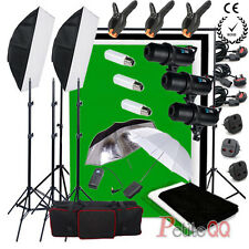 Pro Studio 900W Digital LED Flash Kit Photo 3 Backdrop Background Stand Portrait