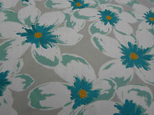 Sanderson Curtain Fabric ~ 'Olanda' 4 METRES Dove/Teal - Embroidered Floral