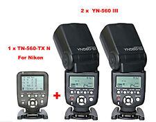 Yongnuo YN560-TX N Wireless Flash Controller for Nikon + 2 Pcs YN-560III Flash