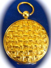 ANTIQUE ESTATE JEWELRY POCKET WATCH locket Pendant gold filled antique locket