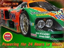 Motor Racing Classic Mazda-787B Le Mans Garage Race Car 30 Medium Metal/Tin Sign