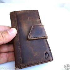 genuine vintage leather case for iphone 4s 4 cover book wallet stand cover skin