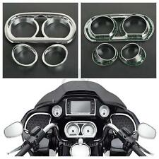 Chrome Gauge Bezel Trim Kit For Harley Road Glide FLTRX Special FLTRXS 2015-2017