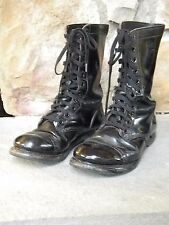 1980 Black Leather Paratrooper Boot / Unknown Brand / Men's Size 7 1/2  (Used)