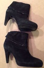 Franco Sarto Suede Leather Ankle Boots Booties Sz 6M Good, Some Normal Wear