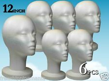 "WIG STYROFOAM HEAD FOAM MANNEQUIN DISPLAY 12"" (6PCS)"