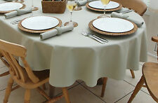 "55x98"" (140x250cm) OVAL SAGE GREEN TABLECLOTH 8 SEATER / EVERYDAY DINING"