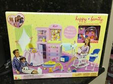Barbie Happy Family Baby Playset Furniture Crib Baby Kid Bedroom Neighborhood