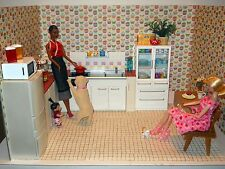 Sweet and Savory Diorama Rooms Sized for Re-Ment and Modern Comfort Kitchens 1:6