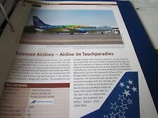 Airlines Archiv Salomonen Solomon Airlines Airline im Tauchparadies