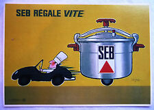CPM REPRODUCTION AFFICHE ANCIENNE / SEB REGALE VITE / SAVIGNAC