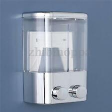 Double Wall Mount Soap Shampoo Shower Gel Dispenser Liquid Foam Lotion Bottle HK