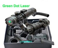 Tactical Hunting Green Laser Sight Dot Outside Adjust For Rifle Gun Scope Mounts