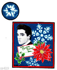 """4"""" ELVIS PRESLEY KING ROCK N ROLL CHRISTMAS HOLIDAY FABRIC APPLIQUE IRON ON"""