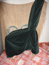 SURE FIT RED GREEN HOLIDAY VELVET ARMLESS DINING CHAIR PARSONS COVER WITH SASHES