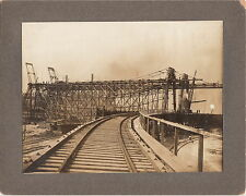 BROWN HOISTING COMPANY ~ RAIL-TO-LAKES CONST.~(3 PHOTOS)~CLEVELAND, OHIO~c-1910