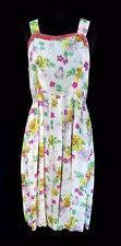 VERY RARE  FRENCH VINTAGE 1940'S WWI ERA FINE SILK FLORAL PRINT DRESS SIZE 8-10