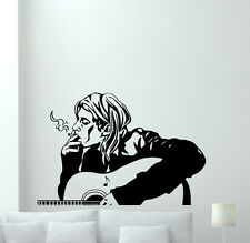 Kurt Cobain Wall Decal Nirvana Poster Music Vinyl Sticker Rock Decor Mural 19sss