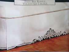 Elegant Batten Lace Cotton Bed Valance Sheet Skirt SN