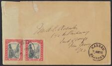 BAHAMAS BRITISH COMM 1918 NASSAU EARLY COVER TO US NEAT CANCELS CORNER REPAIRED