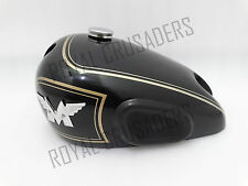 NEW MATCHLESS SINGLE CYLINDER BLACK FUEL TANK + BADGES + CAP+ KNEE PAD+ 2 TAP