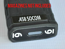 .458 SOCOM MAG STICKERS fits MAGPUL PMAG 30 GEN M3 AR15-M16-M4 WHITE NUMBERS 1-6