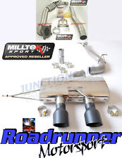 "Milltek Golf MK6 R Exhaust 3"" Race Turbo Back & De Cat Non Res Non Valved Black"