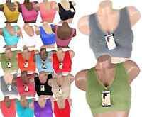 Damen Sport BH MIT SPITZE Bustier Soft-Einlage Fitness Push up Neu