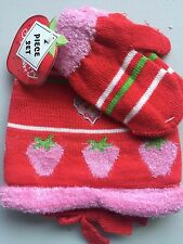 NWT STRAWBERRY SHORTCAKE TODDLER HAT & MITTENS~~S@ CUTE~~L@@K NOW!!