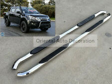 3'' Stianless steel Side Steps/BAR Running Board For ISUZU D-MAX dual cab 12-15