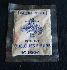 Sachet de recharge pour boite a poudre ancienne,HOUBIGANT, Rachel Rosée