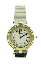 Ladies Cartier Santos Ronde Quartz 18ct Yellow Gold and Steel Watch 4461