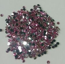 DIY 500pcs 4mm Rose Red Facets Resin Rhinestone Gems Flat Back Crystal beads 140