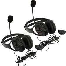 2X Big Headset Headphone + Microphone MIC for Microsoft Xbox 360 Live Contr