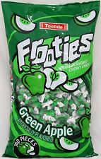 Frooties Green Apple Candy 360 Count Bag Tootsie Roll Fruities Bulk Candies