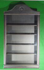 WALL CURIO CABINET   SHADOW BOX  DISPLAY CASE SHELF