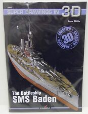 Kagero 16043 - Super Drawings in 3D, The Battleship SMS Baden         New   Book