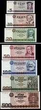 DDR / GDR EAST GERMANY SET OF 7 BANKNOTES INCL. 200+500